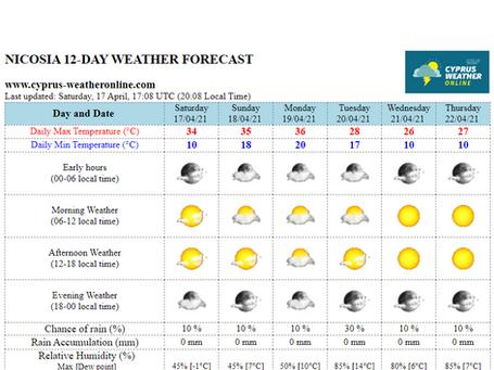 Το Cyprus WeatherOnline αποκτά τον δικό του χαρακτήρα στους πίνακες πρόγνωσης καιρού! 😎