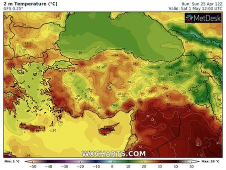 Ο καιρός τη Μεγάλη εβδομάδα αναμένεται να είναι ιδιαίτερα θερμός για την εποχή με συνδυασμό σκόνης