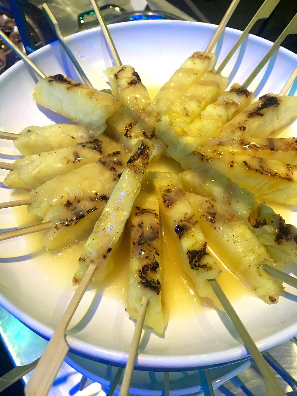 Grilled Pineapple with Rum Butter