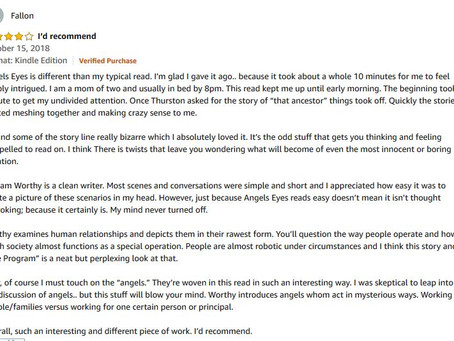 Angels-Eyes: Excellent Reader Review (4 Stars)