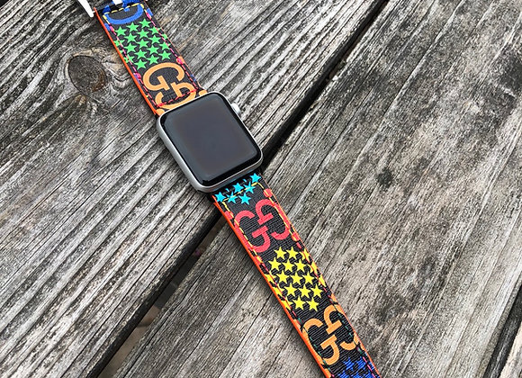 $350 Custom watchband made from Gucci Psychedelic