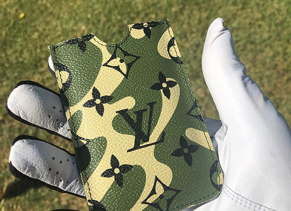 $850 Preowned cardholder phone case camouflage LV