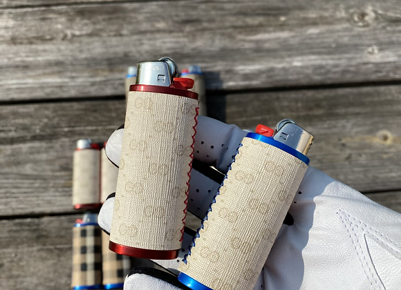 $55 red or blue custom lighter case hand sewn