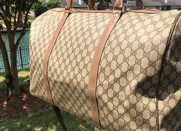 $1050 very clean large Duffle Preowned vintage w/leather strap