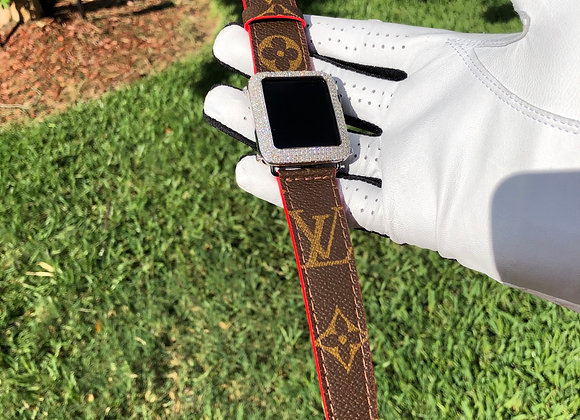$250 New custom watchband made from Authentic LV