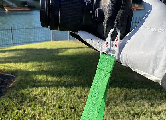 $100 Volt green camera strap ❌ white hook
