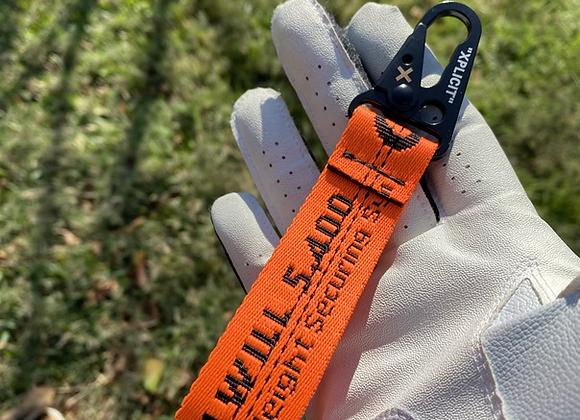 $50 neon orangeoffwhite keychain