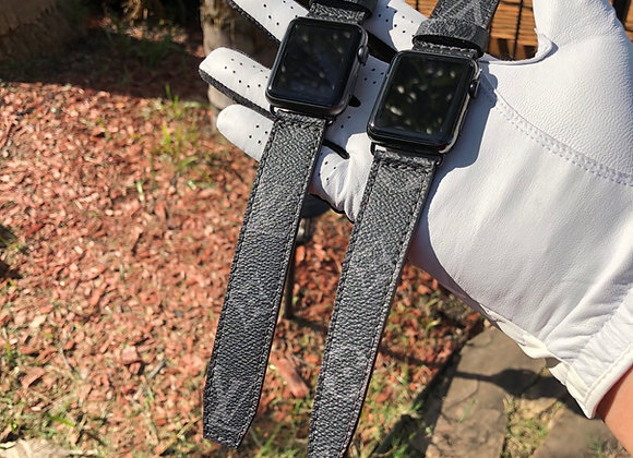 $275 New custom watchband (boxed ends) made from Authentic LV