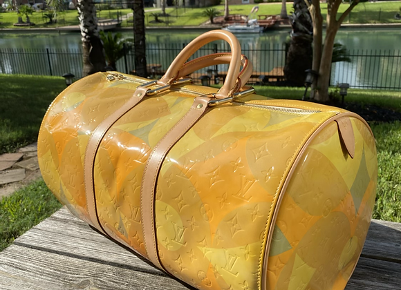 $900 rare large preowned vernis Louis Vuitton duffle 8/10 condition