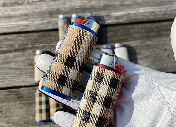 $55 red or blue custom lighter case hand sewn