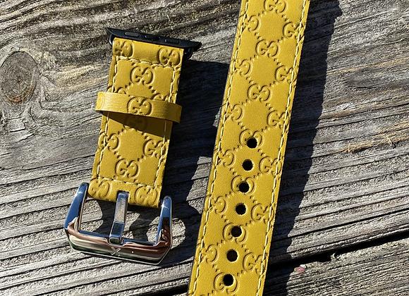 $155!! Custom microguccisima (yellow) watchband