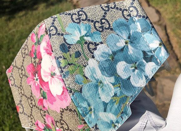 $950 Custom 1 of 1 mask split floral design