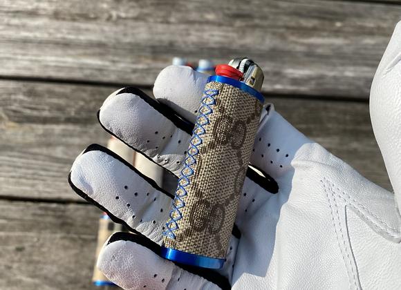 $55 blue custom lighter case hand sewn