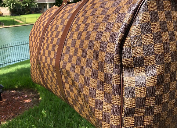 $1050 Clean Preowned Large Damier duffle 50 Clean 8-9/10