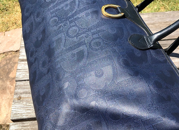 $900 Very Clean large duffle 50 dior blue with leather strap