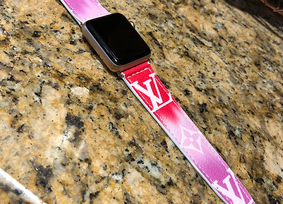 $350 Custom leather watchband made from Authentic LV