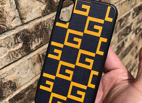 Custom slim phone case made from authentic gg