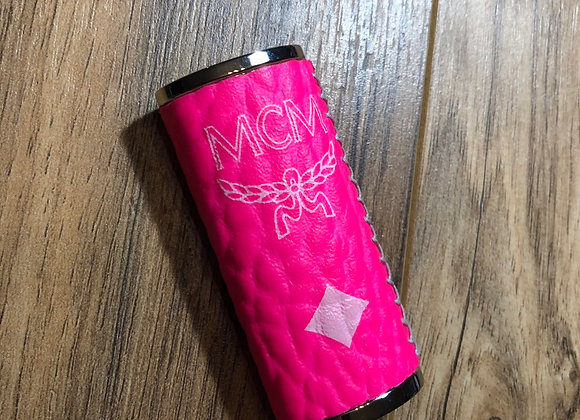 Custom lighter case made from Authentic designer (neon pink)