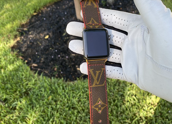 $145 Custom watchband made from Authentic Classic LV monogram