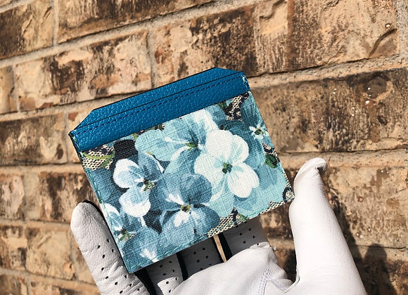 Custom card case made from Authentic floral