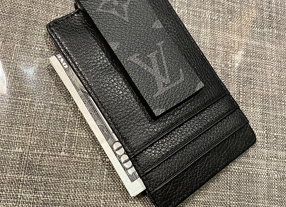 $165 Custom eclipse money clip leather wallet