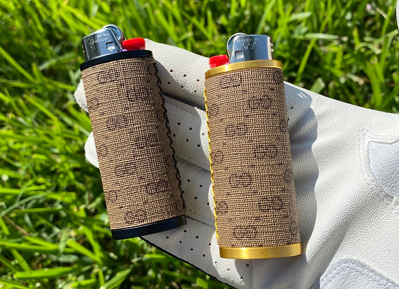 $55 Limited gold or matte black casing handsewn bic lighter case