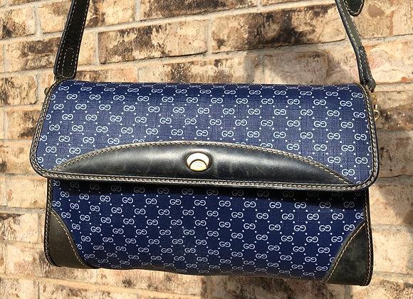 $500 Rare color vintage blue mini messenger shoulder bag