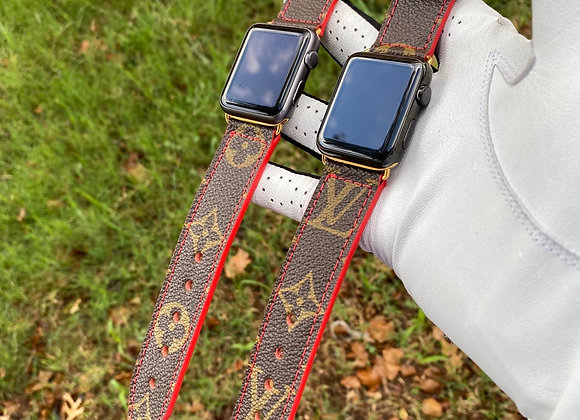 $200 Custom watchband made from Authentic Classic LV monogram