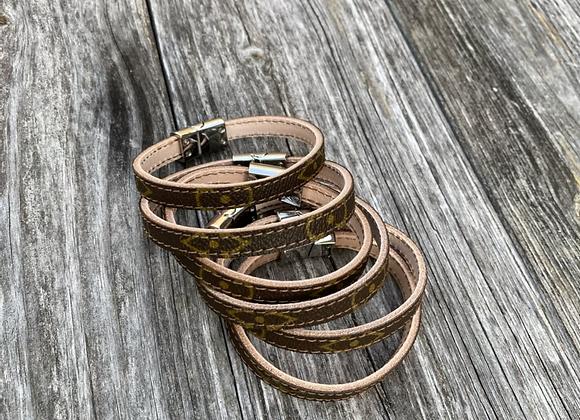 Only $50 Custom bracelet made from authentic lv monogram