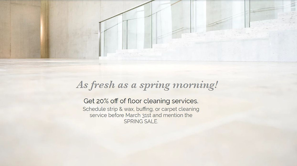 floor care sale info