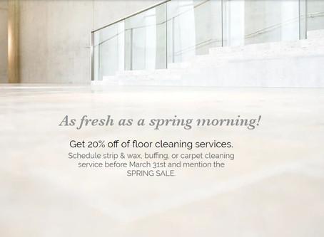 Spring sale on floor care