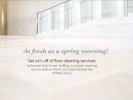 Spring sale on floor care