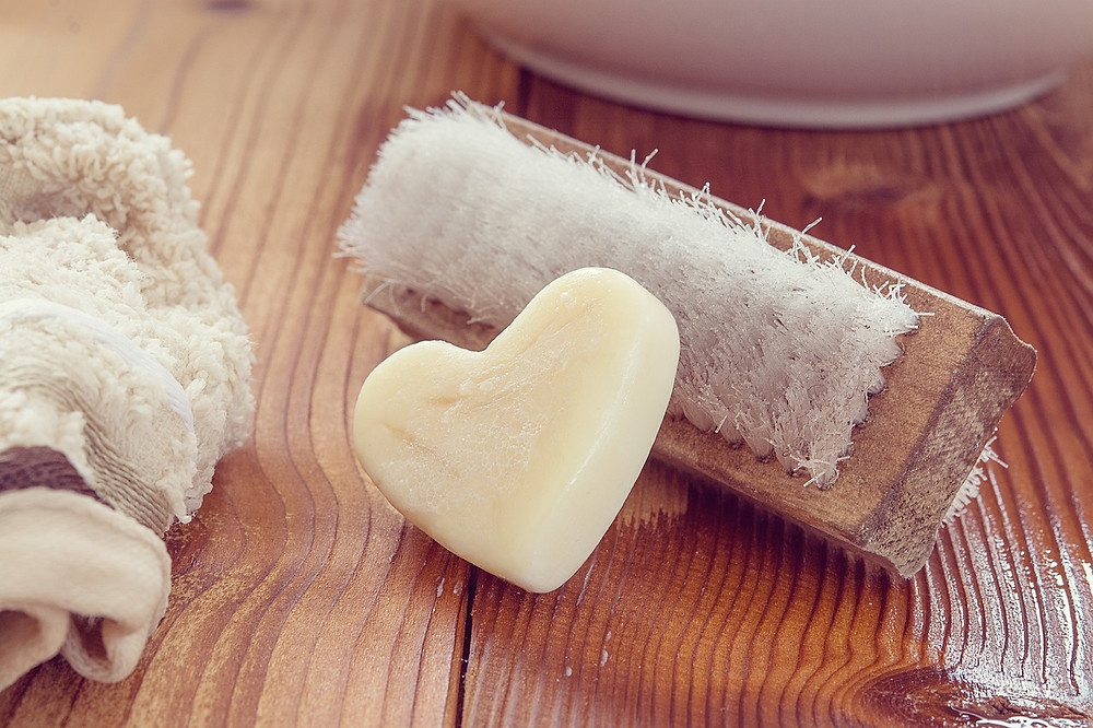 Nail brush and soap