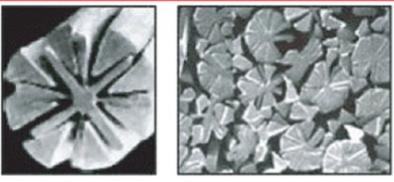 Close-ups of microfiber thread