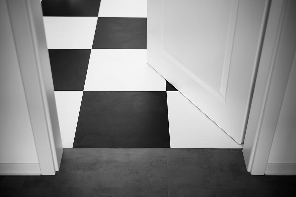 A clean tile floor