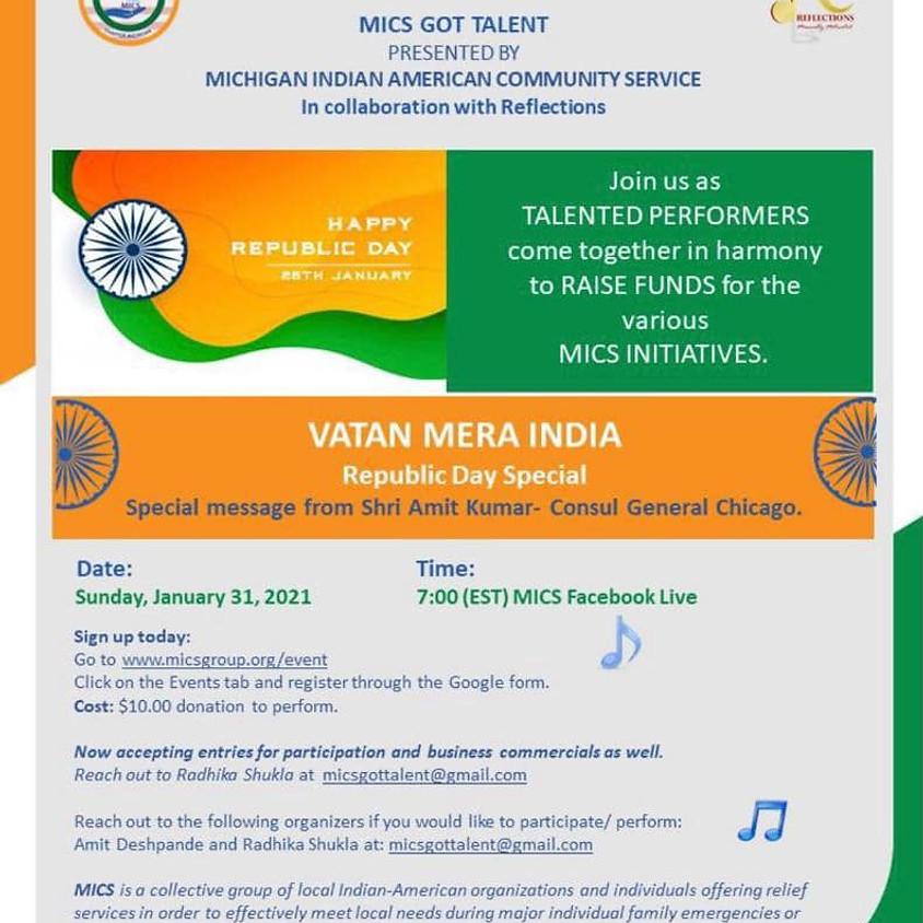 MICS Got Talent - Vatan Mera India