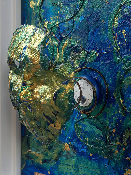 Just Keep Swimming (The Mask Series) (detail)