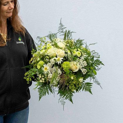 Blumenstrauss rund gebunden weisston Gr. XL
