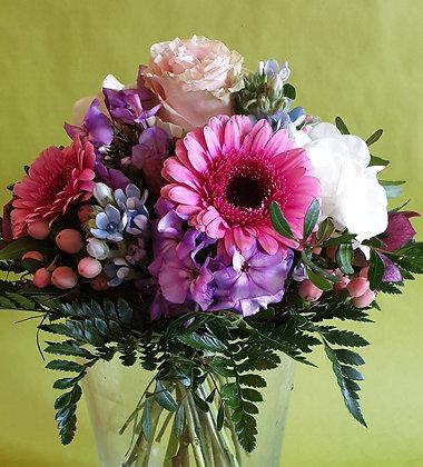 Blumenstrauss rosa Ton