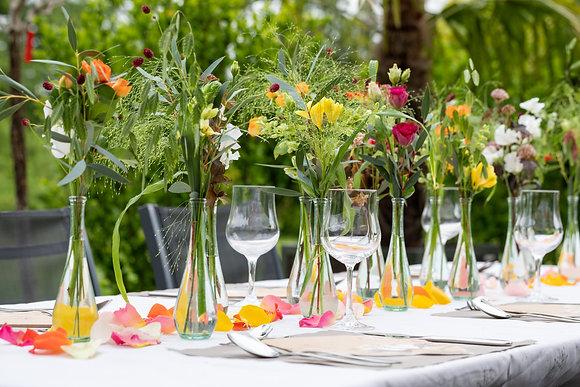 Tischdeko in Väseli mögliche Hochzeits- / Geburtstagsdeko
