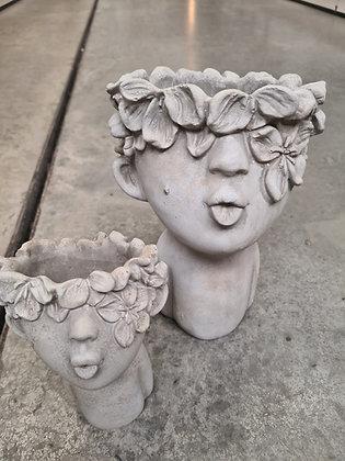 Kopfgefäss zum Bepflanzen Keramik gross