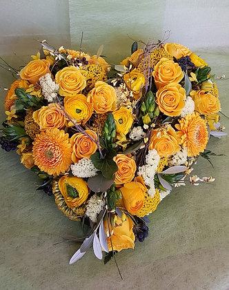 Blumenherz gelb