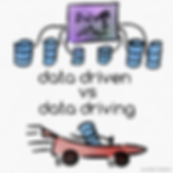 Yes.  All databases are blue, but they come in different sizes and shapes. They suspiciously look like hard disks as well.  Also all fast cars are red and very easy to draw.  #humor #dataviz #DataDriven #driving
