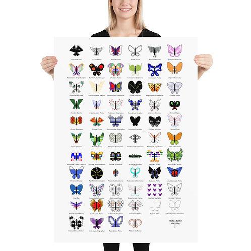 DataViz Butterflies - Poster 70 x 100 cm
