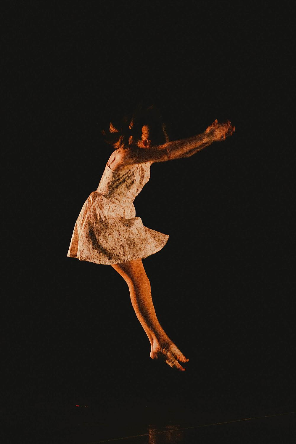 young dancer portrait during dance recital
