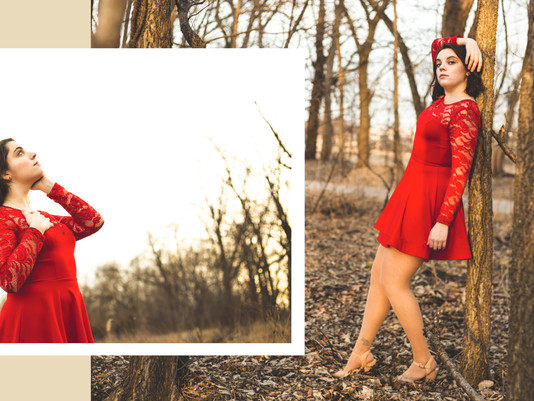 Lady in Red | Portrait Photography | Iowa City