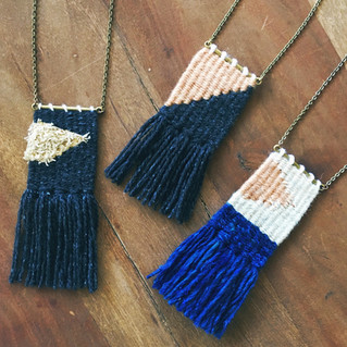 Woven necklaces