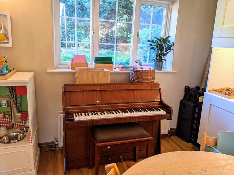 Our piano for music time!