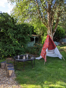 The garden and our teepee
