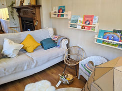 The reading area and sofa